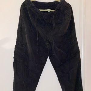 American Eagle black jogger cargo pants